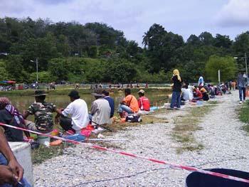 Pemandangan sekitar pertandingan memancing Kolam Kechau 1.